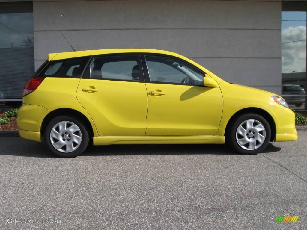 2004 Toyota Matrix in Solar Yellow